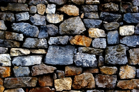 The wall of the large and rough stones photo