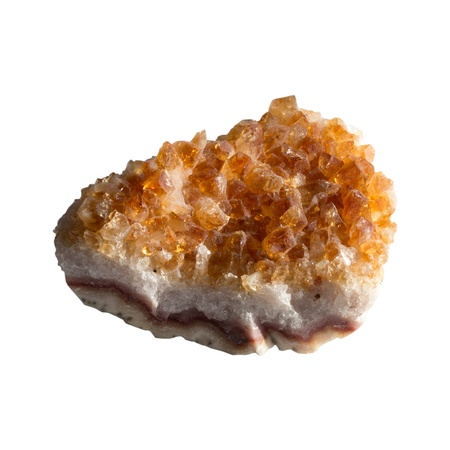 Mineral  citrine  on a white background