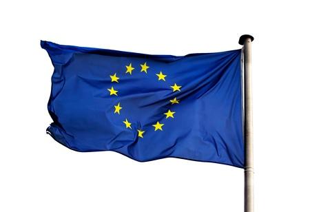 A flag of  European Union on white background