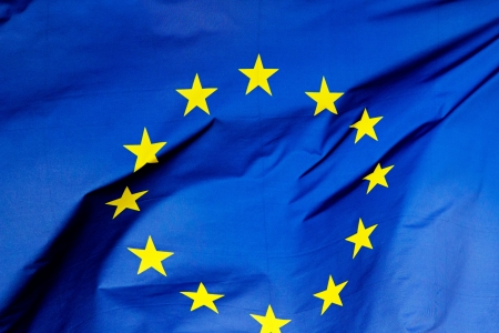 A  fragment of the flag of  European Union Standard-Bild