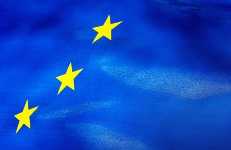 A  Fragment of European Union flag photo