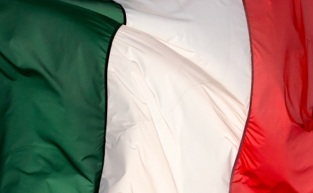 A Italian flag in the wind photo