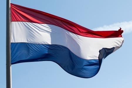 drapeau hollande: Un drapeau Hollande dans le vent