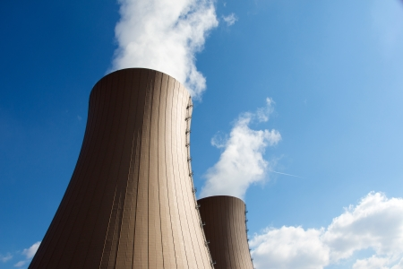 Nuclear power plant against  clouds and sky Stock Photo - 21275883