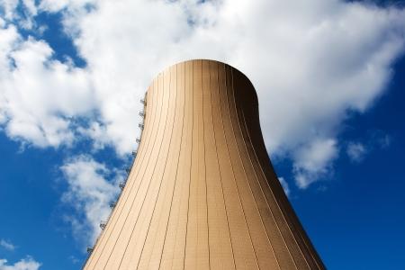 Nuclear power plant against the blue sky Stock Photo - 21275893