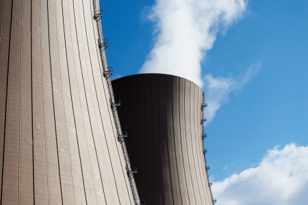 npp: Nuclear power plant against the blue sky Stock Photo