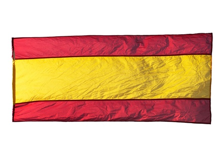 Isolated Spanish flag in the wind  photo