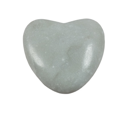 Stone heart on  white background photo