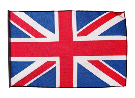 Flag of England on a white background photo