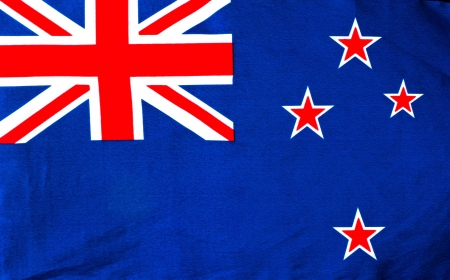 A New Zealand Flag close up photo
