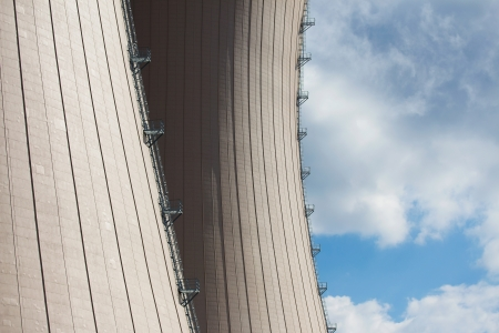 The Cooling towesr of  nuclear power plant against sky and clouds Stock Photo - 21359907