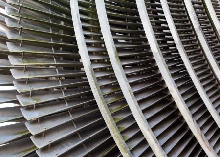 turbina de vapor: Un fragmento de una turbina de vapor