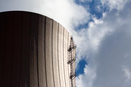 Nuclear power plant against the sky Stock Photo - 21359915