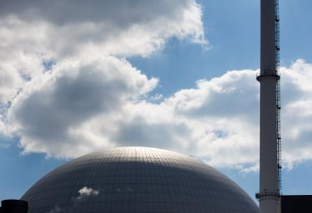 Le dôme d'un réacteur nucléaire de la centrale nucléaire Banque d'images
