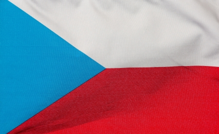 A Czech flag in the wind  photo