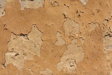 adobe wall: Adobe muro della vecchia casa