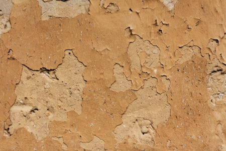 adobe wall: Adobe wall of the old house