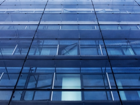 Glass wall of a office building Stock Photo