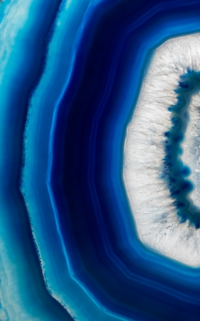 geode: Slice background  of a  blue agate crystal