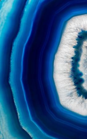 Tranche fond d'une agate cristal bleu