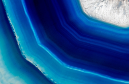 The Background of a blue agate crystal