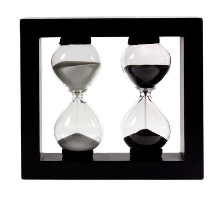Hourglass on a white background photo