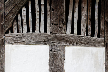 half timbered house: Old wall of the farmhouse Stock Photo