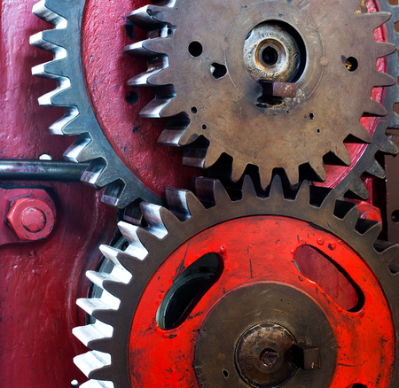 Pinion gear for mechanical machine in a factory photo