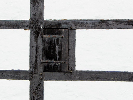 The door shutter of an old farmhouse photo