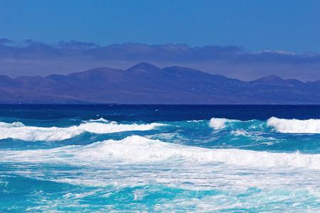 corralejo: Surf on Fuerteventura in the area Corralejo Stock Photo