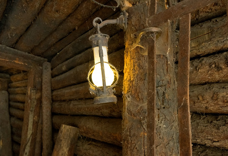oil lamp: The oil lamp in the old mine