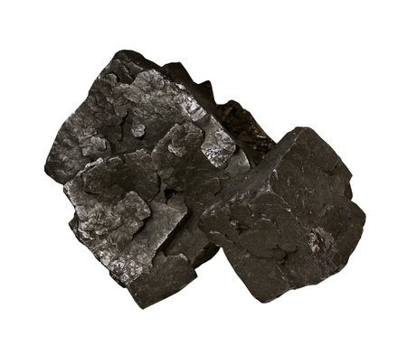 sphalerite: Galena, ore of lead on the white background isolated Stock Photo