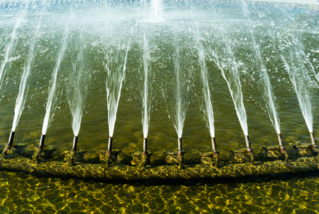 stream  jet: The fountain in the city park of the city of Hanover, Germany