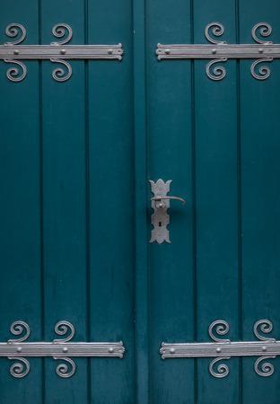 doorhandle: The old door of a church Stock Photo