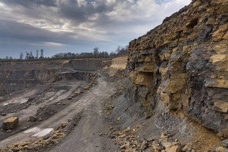 The landscape in a quarry career