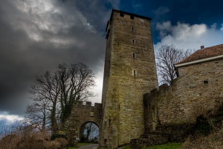 timelapse: Tower of Schaumburg Castle in Germany