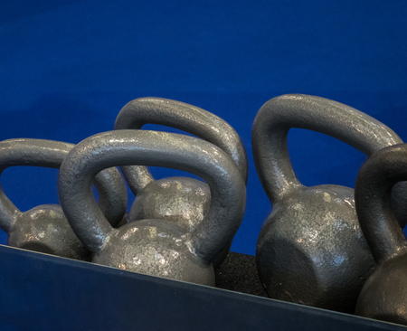 fitness center: The dumbbells  in a fitness center
