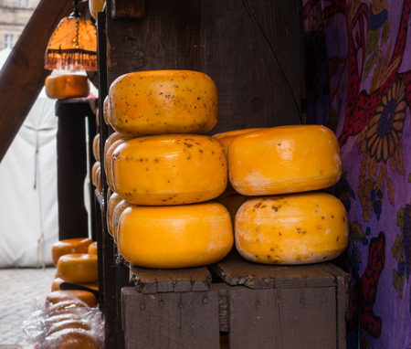 emporium: Cheese on the counter at the market
