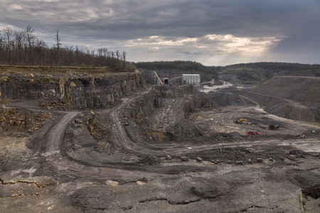 bluff: Crushed stone factory in a quarry career