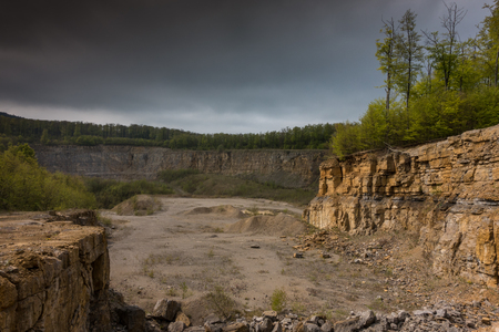 pit fall: The landscape in an old and abandoned quarry