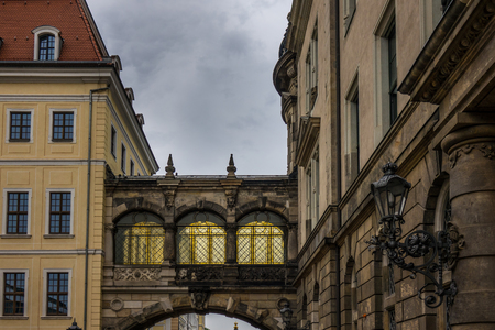 roof framing: The old building of city Dresden, Germany.