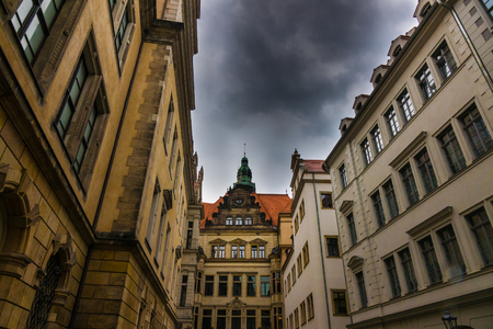 The old building of city Dresden, Germany.