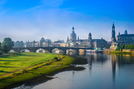 The  bridge on river of city Dresden, Germany. Stock Photo