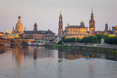 The  bridge on river of city Dresden, Germany. Stock Photo