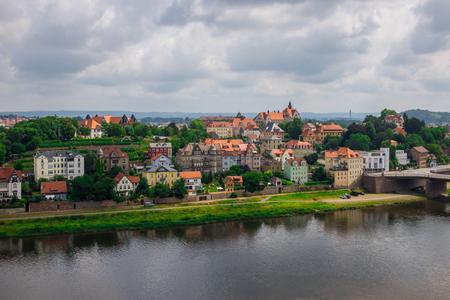 elba: The bridge on river of city Meissen , Germany.