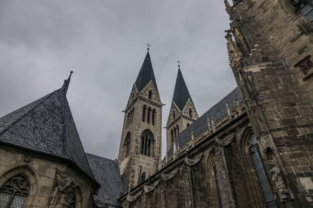The old and ancient cathedral in Halberstadt, Germany.
