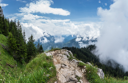 The mountains of Alps in Bavaria, Germany.