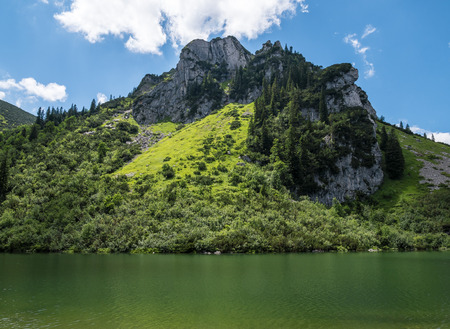 The mountain lake Soinsee in Tyrol, Bavaria .