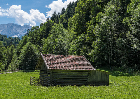 The landscape of mountain in Tyrol, Austria . Stock Photo