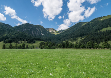 The landscape of mountain in Tyrol, Bavaria . Stock Photo